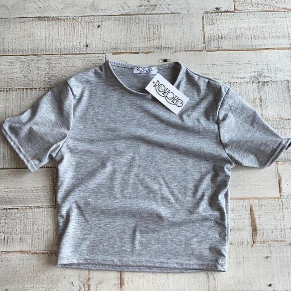 Gray baby tee